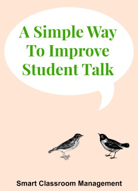 A Simple Way To Improve Student Talk