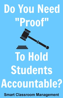 Do You Need Proff to Hold students Accountable?