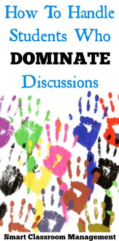Smart Classroom Management: How To Handle Students Who Dominate Discussions